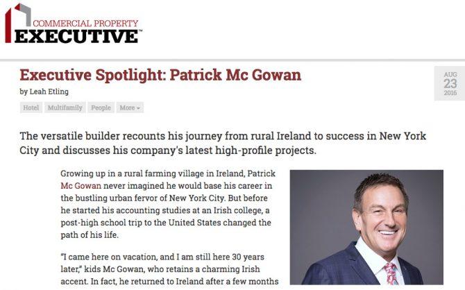 Commercial Property Executive Profile Patrick Mc Gowan